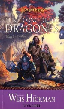 El retorno de los dragones - cronicas de la dragonlance - timun mas - portada